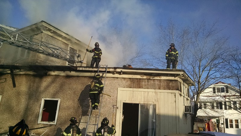 Three-alarm Lowell fire. SUN/Dan Phelps