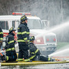 A three-alarm fire swept through Mr. Mike's Mini Mart in Ashburnham on Wednesday afternoon, leaving the structure heavily damaged. Employees of the store reported heavy smoke in the building, located at 6 Gardner Road, at about 3:45 p.m., and quickly evacuated. No one was injured in the blaze. SENTINEL & ENTERPRISE / Ashley Green