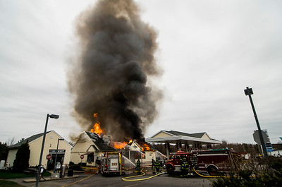 Three-alarm fire at Mr. Mike's in Ashburnham