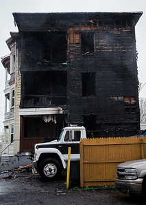 Three-alarm fire at Pleasant Place, Leominster