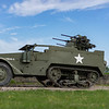 USArmy White M16 half track fitted with qudraple .30 machineguns