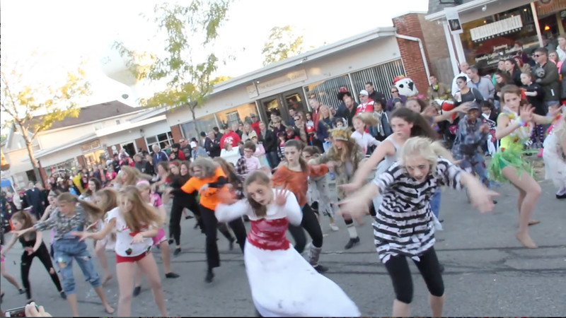 """Click on the photo above to play the live video of the Wauconda Academy of Ballet's version of """"Thriller"""" performed at Trick or Treat on Main Street Sunday, October 27."""