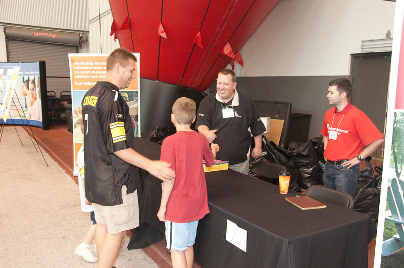Andy Barthel greets some attendees.
