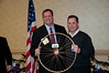 Roman Matusz is recognized with a gold wheel for being the leader in fund raising for this year's bike drive.