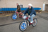 Pam Block of the Allegheny County Chapter of Thrivent shows off her biking skills.