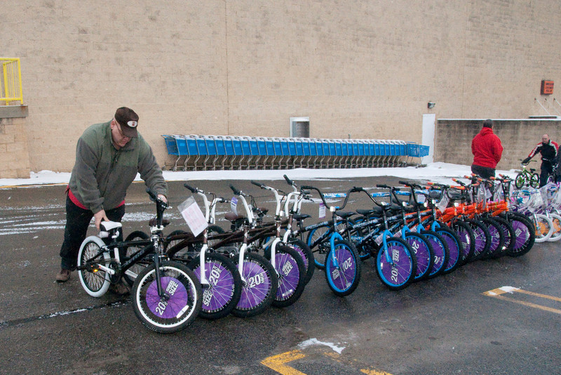 After building bikes all night, Nathan stayed around to maek sure we were loaded up and ready to go.