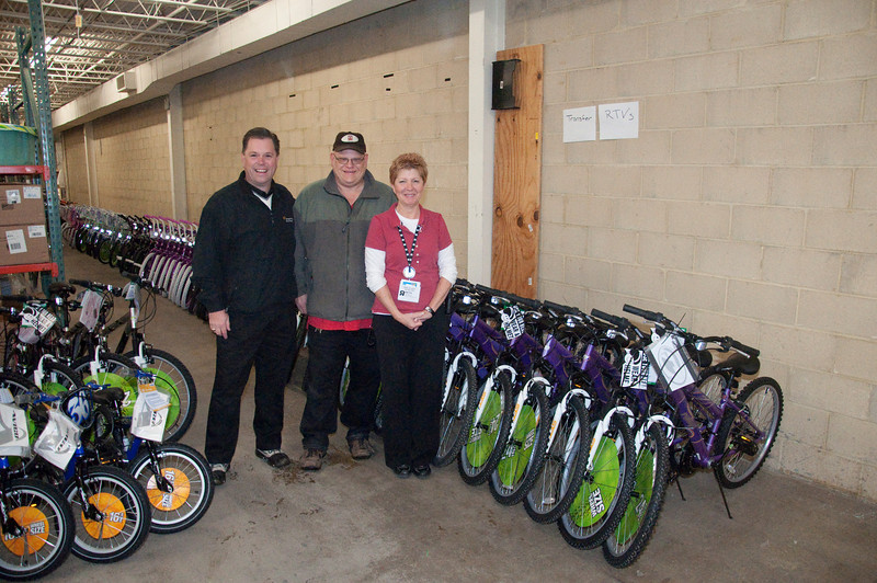 """This is Nathan and Beth of the McKnight Road Toys R Us in Ross. I can't begin to thank them enough for all of their hard work and support! Nathan spent the night several times assembling my bikes. Beth is the manager of the store and tolerated my multiple requests of """"Beth, I need some more bikes!"""" They did it with a smile. If you've got to buy a toy, please buy it from Toys R Us on McKnight Road in Ross!"""