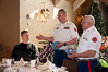 The Marines assisted us in selling raffle tickets to get additional funds. We raised another $530 at the luncheon.