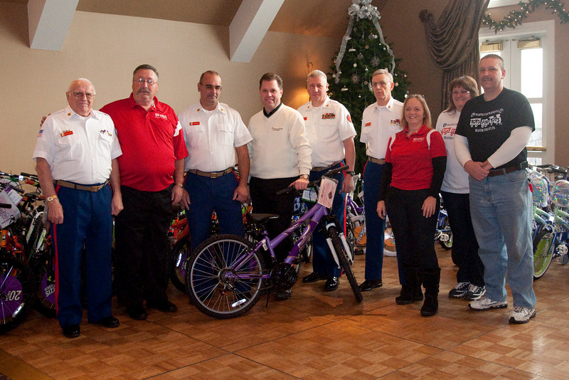 These are the Marines from New Kensington and Ambridge. We spread the bikes among them to reach more familes.