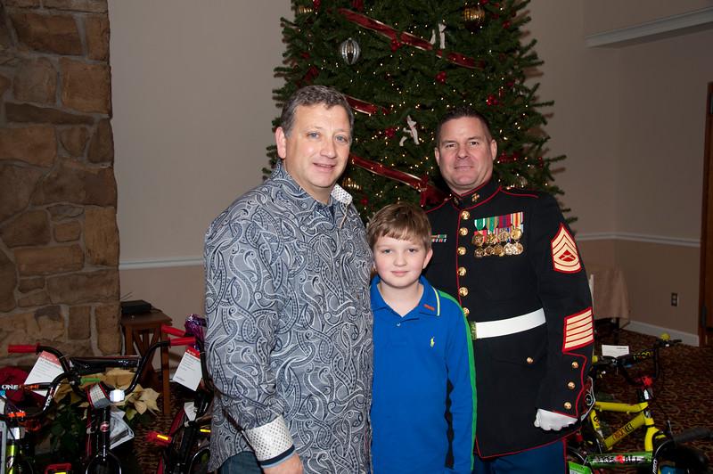 John Angiulli and his son John. John's done a great job of raising funds through the years! Thanks John!