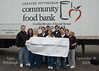 Al Todd, Mim Abraham, Chuck Taylor, Alan Caulkins, Bob Massaro, Ashley Todd, Roger Steiner, Paul Edwards, Joan Broz & Jean Taylor after a long morning of work with the food bank.