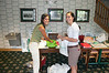 Volunteers Brittany Wire and Nina Zappa helped to organzize the registration table and welcome the golfers.