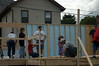 Thrivent Builds home at 300 McCargo St., New Kensington, PA. Members of Thrivent's Pittsburgh office assist in the waill raising. June 2006.