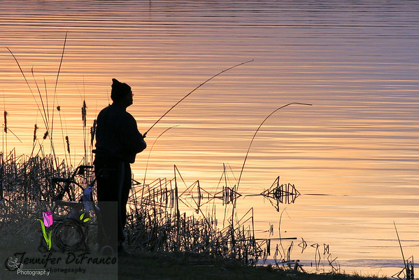 February. 2, 2008<br /> <br /> Fisherman at dusk