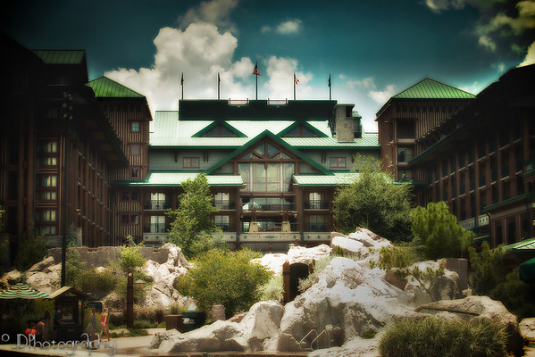 May 12, 2009 - My happy place.<br /> <br /> This is Disney's Wilderness Lodge at the Walt Disney World resort.  I took this photo during our stay there 2 years ago.  I have learned so much in the past two years I decided to reopen the raw file in Lightroom and see what I could do with it now.<br /> <br /> I picked this particular photo because in exactly one month - June 12th we are beginning our year drive to Florida and heading back to the Wilderness Lodge for 10 amazingly wonderful nights.  I can't wait!<br /> <br /> Laura - I hope you have a fantastically magical time - the best even when you are there in a few days.  Take LOTS of photos. :)