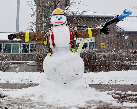 February 12, 2010 - even the firefighters at station one had fun with the snow.