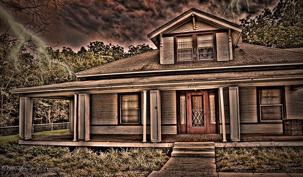 October 31, 2009 - Haunted? Have a safe and fun Halloween. <br /> <br /> I wanted to add some information about this house..<br /> <br /> This is called The Coyle House. It is a historic house here in our town. It was built by one of the founder fathers. There is a toll-way that is being built through the middle of town right now (ick). Since this house and all of the outbuildings have been declared a state historical landmark it couldn't be torn down. It had to be moved and...  set up at the new location EXACTLY as it was sitting on the original land. Our city council for the most part was NOT happy and complained a lot. I say - deal! Our history is very important and I feel it is wrong to simply try and wipe the slate clean and forget about it to save a few dollars. If they can spent 1500.00 each on park benches to line main street they can move this house and the outbuildings. Now it is just sitting there - in the middle of a park. I hope and have suggested they use volunteers and turn it into a living museum. I know i would volunteer to work there if they did.