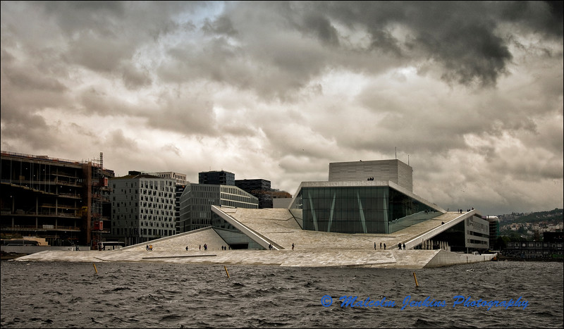 The Glacier Opera House in Oslo