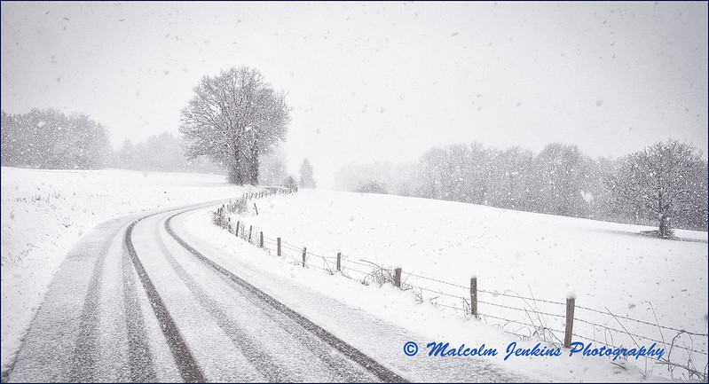 Road To Marcellaz In The Snow / Peillonnex - Marcellaz sous la Neige
