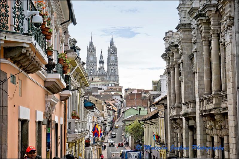 View Towards The Basilica del Voto Nacional