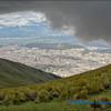View of Quito from Cruz Loma on The Pichincha Volcano