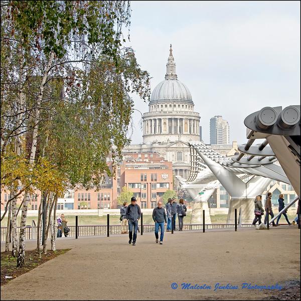 St Paul's From Beside The Millenium Bridge