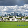 Greenwich with Canary Wharf in the Background.