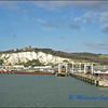 Dover Docks With View Towards Dover Castle