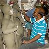 Decorating Kumartuli Idols