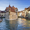 The Prison at Annecy with Winter Reflections