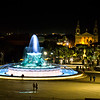 Valletta by Night - Triton Fountain