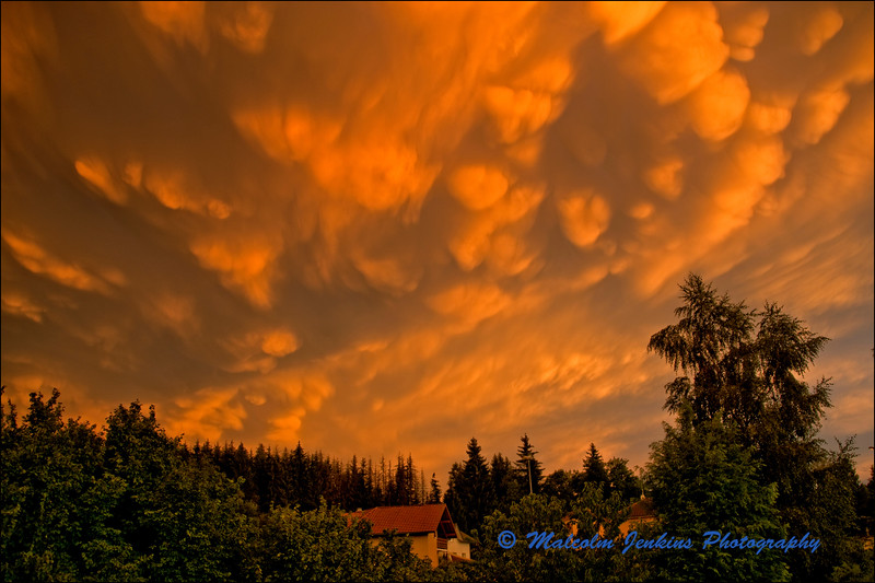 After the Evening Storm - An Amazing Cloud Formation
