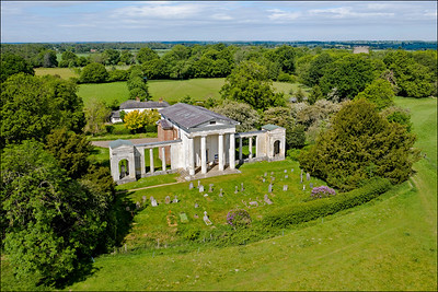 """The """"New"""" Palladian Church - Aerial View  (2 of 3)"""