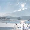 Alpine Lake in Winter / Lac Alpin en Hiver