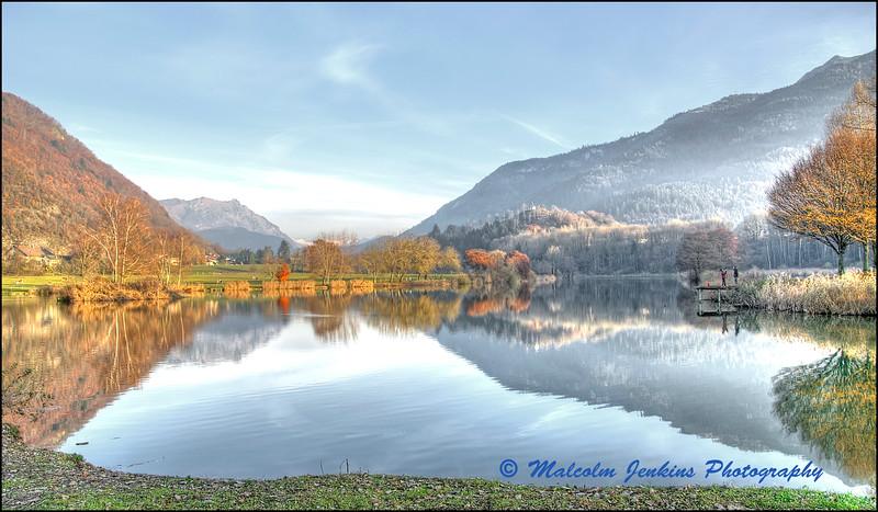 Alpine Lake in Autumn