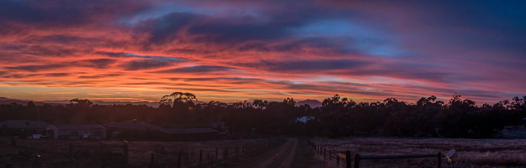 Picnic Road Sunrise Pano