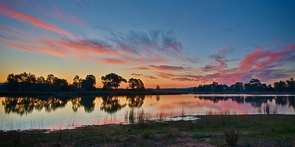 Sunset at Green Hill Lake