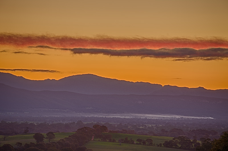 Sunset over Hall's Gap
