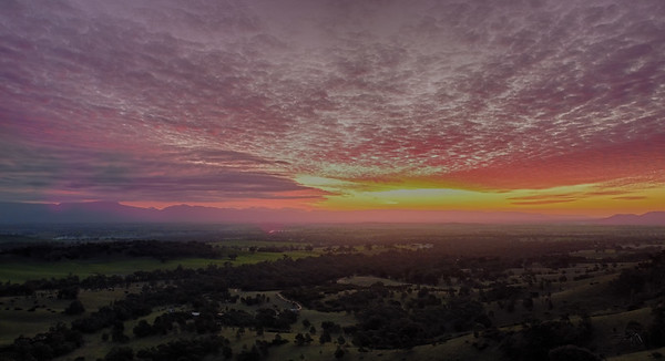 Sunset over the Grampians
