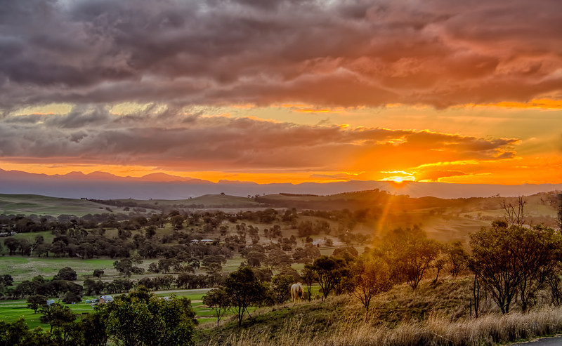 Sunset over the Valley