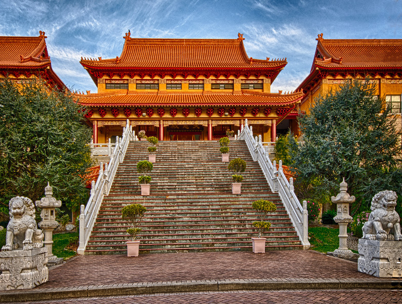 Buddha temple at Wollongong - the largest of its kind in the southern hemisphere