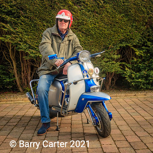 Stuart Skinner on Lambretta TV200