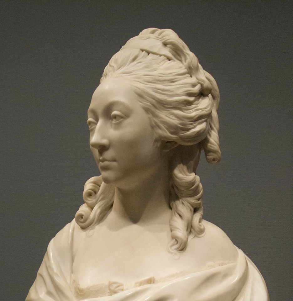 <i>Bust of Anne-Marie-Louise Thomas de Domangeville de Sérilly, Comtesse de Pange</i>, Jean-Antoine Houden. Animation: Yoo-Jin Lee