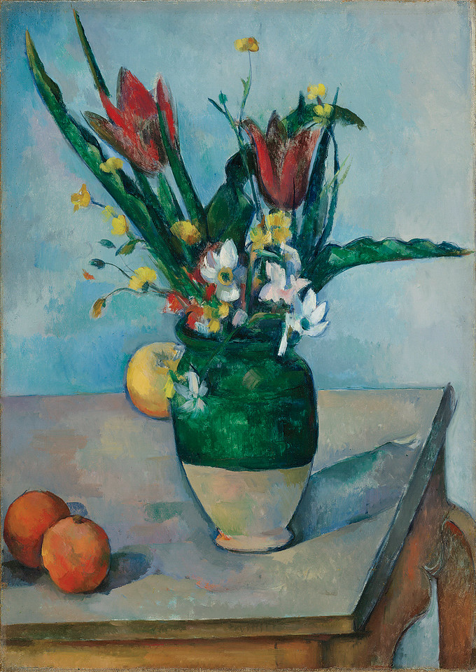 <i>Vase de Tulipes</i>, Paul Cézanne. Animation: Kristen Shea