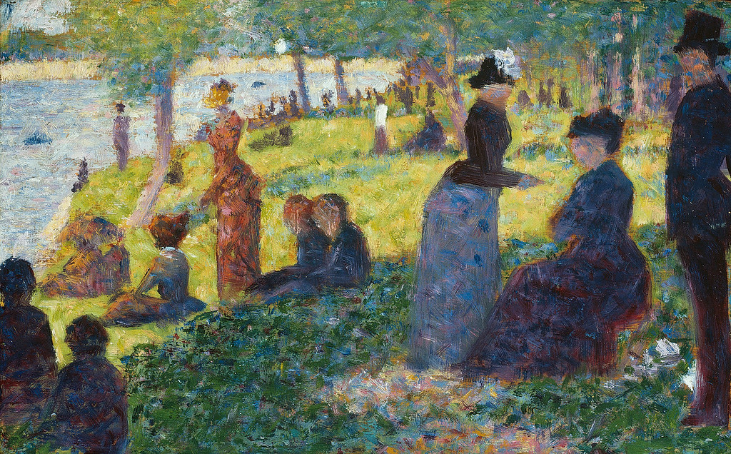 "<i>Oil Sketch for ""La Grande Jatte""</i>, Georges Seurat. Animation: Benji Sayed"