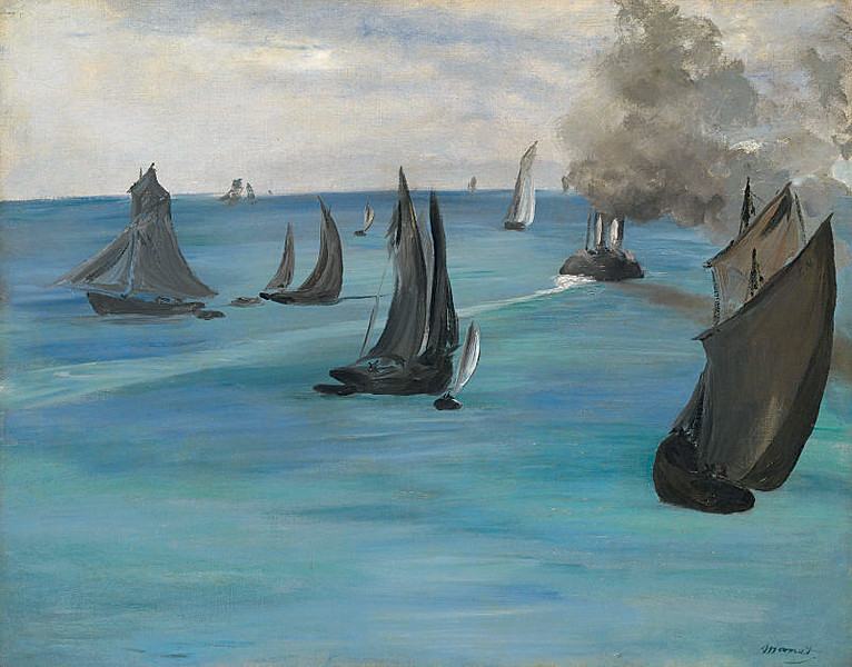 <i>Steamboat Leaving Boulogne</i>, Édouard Manet. Animation: Daniel Brookman