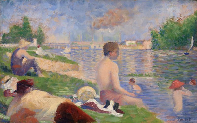 "<i>Final Study for ""Bathers at Asnières""</i>, Georges Seurat. Animation: Benji Sayed"