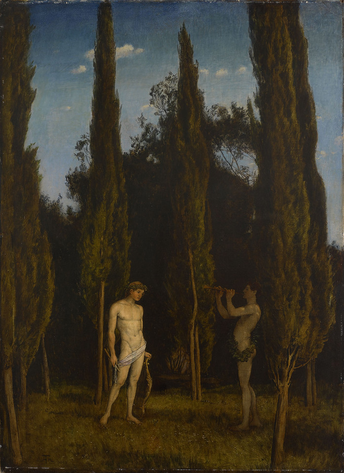 <i>Apollo and Marysas</i>, Hans Thoma. Animation: Amanda Konkol