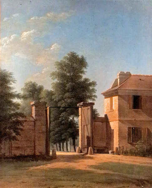 <i>Entrance to the Park at Saint-Cloud</i>, Jean Victor Bertin. Animation: Saverio Caponi