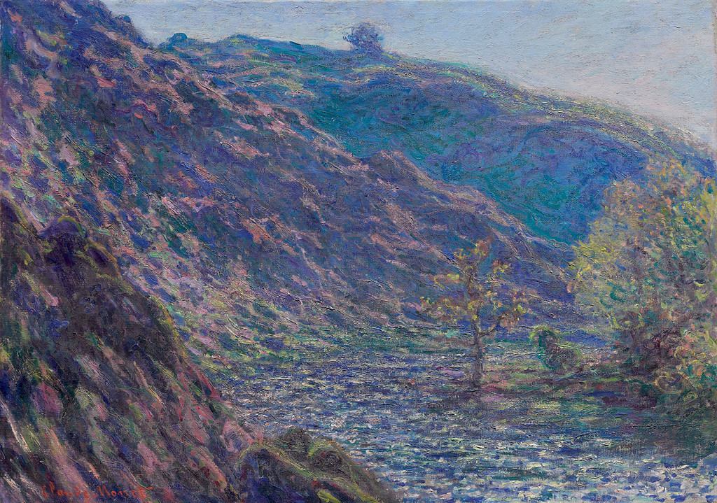 <i>The Petite Creuse River</i>, Claude Monet. Animation: Daniel Brookman